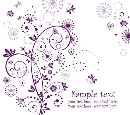purple swirl: Abstract greeting card