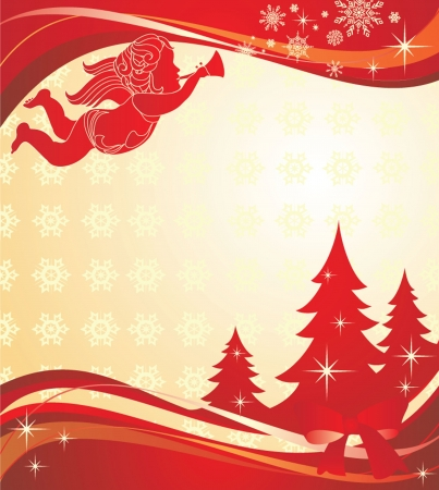 Christmas banner with angel Vector
