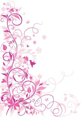 bordure floral: Voeux floral fronti�re