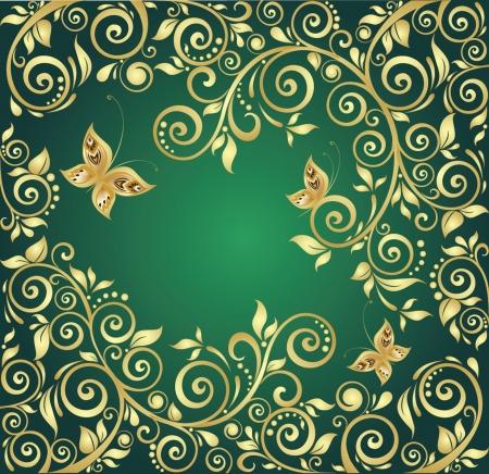 deseos: Fondo de oro Vintage