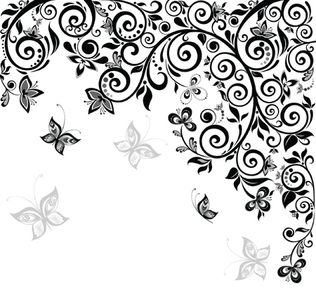 Vintage ornate background Vector