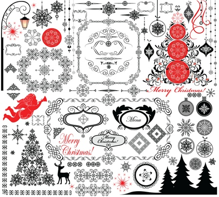 Christmas retro design Vector
