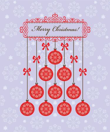 Christmas greeting postcard Vector
