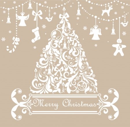 Christmas pastel greeting card Stock Vector - 18921532