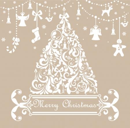 campanas navide�as: Tarjeta de felicitaci�n de Navidad pastel Vectores