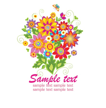 Greeting bouquet Stock Vector - 18921508