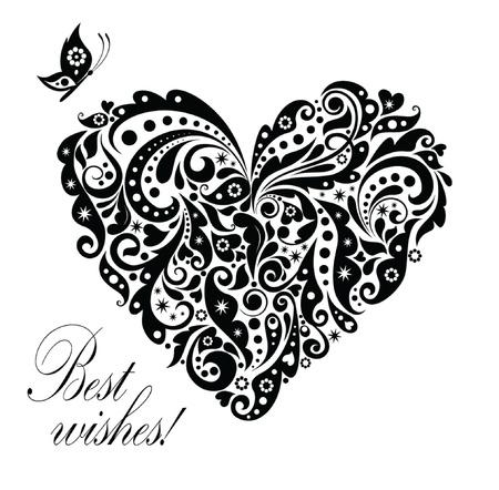 best party: Cartolina d'epoca con a forma di cuore