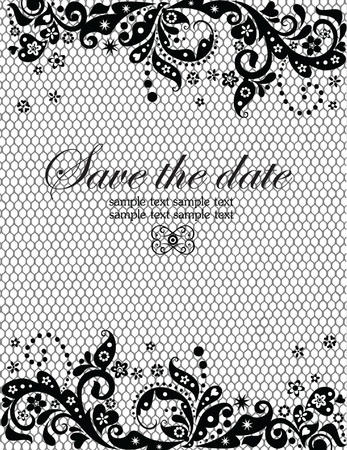ornamented: Wedding invitation