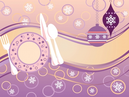 Menu xmas card Vector
