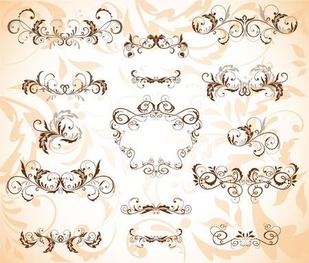wed: Vintage brown frame