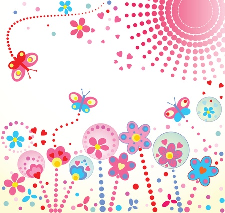margin: Abstract floral background