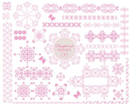 Beautiful lace ornament Vector