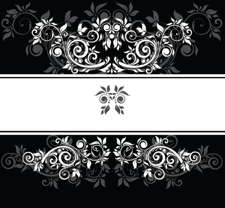Black and white wedding template Vector
