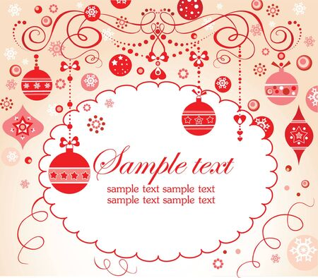 Christmas red invitation Stock Vector - 18944503