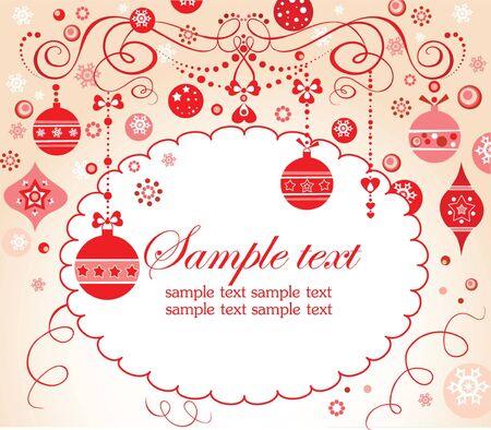 Christmas red invitation Stock Vector - 18944503