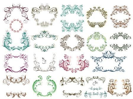 adornment: Set of vintage frames for design