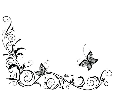 corner design: Vintage wedding design Illustration