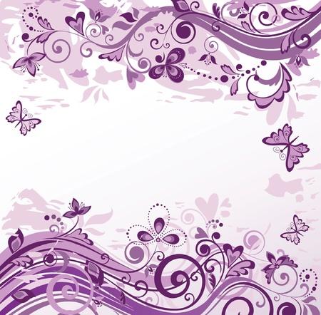 violeta: Fondo floral violeta