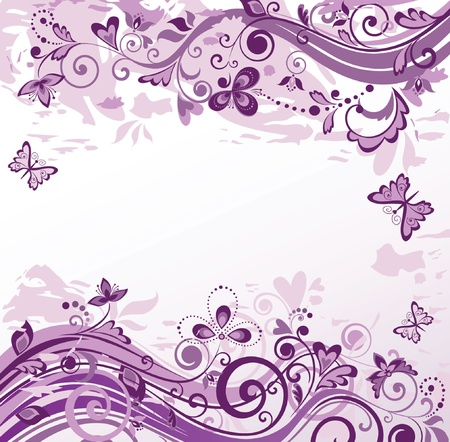 Violet floral background Vector