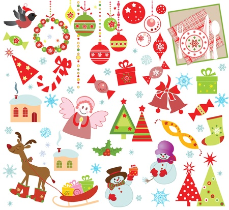 Xmas set Stock Vector - 18944586