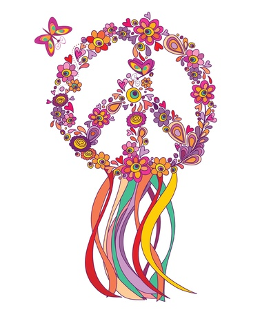 Hippie wreath Vector