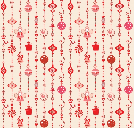 Seamless xmas decoration Vector
