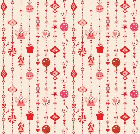 new yea: Seamless xmas decoration
