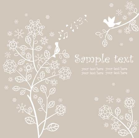 Beautiful pastel spring card Vector