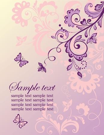 Beautiful wedding invitation Vector