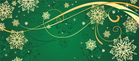 Christmas gold background Stock Vector - 18944472