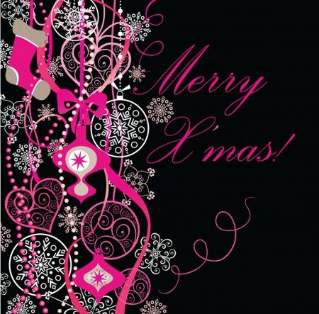 Christmas vintage card Stock Vector - 18944443
