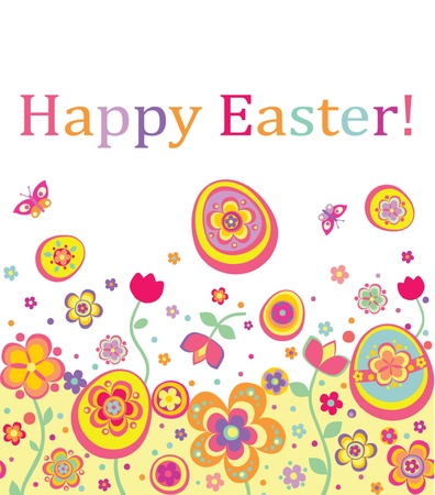 Easter seamless card Vector