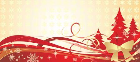 Golden christmas banner Stock Vector - 18944508