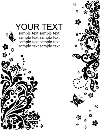 Greeting banner  black and white  Vector