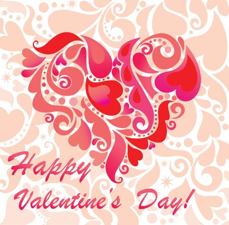 Greeting card for Valentine Stock Vector - 18944496