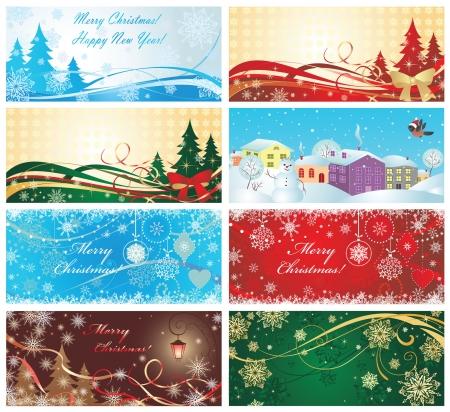snowdrifts: Magia di natale banner Vettoriali