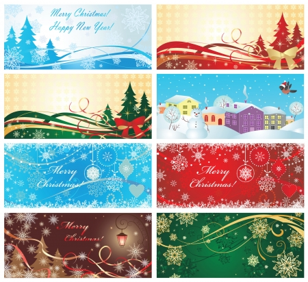 Magic xmas banners Vector