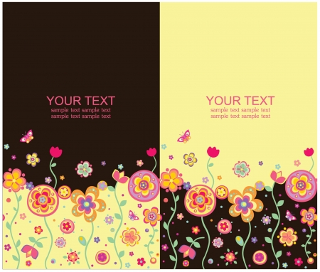 Seamless summery banners Vector