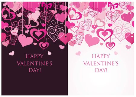 wedding wishes: Valentine seamless banners