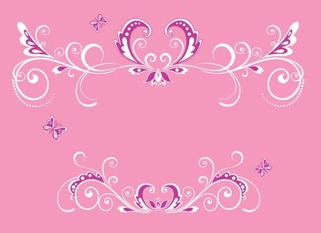 Beautiful pink frame Vector