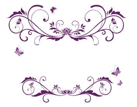 heiraten: Schöne violette Rahmen Illustration