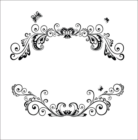 filigree background: Decorative frame