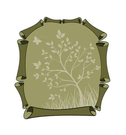 Eco scroll Vector