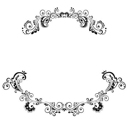 marriage invitation: Wedding arch Illustration