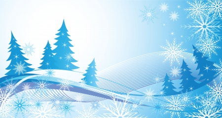 Winter blue background Stock Vector - 18944402