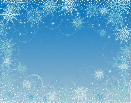 neige qui tombe: Carte d'hiver Illustration