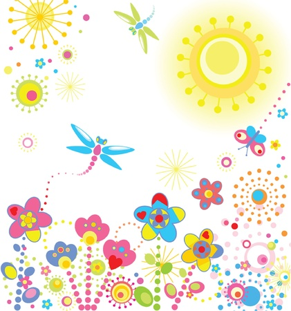 Abstract summer card Vector