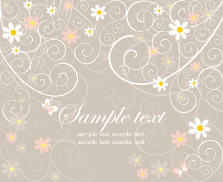Beautiful greeting card Vector