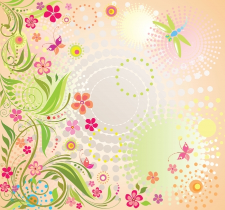 flores: Colorful summer background