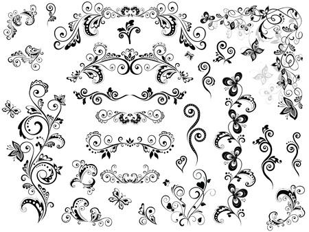 esquineros de flores: Elementos de dise�o vintage
